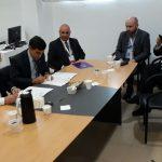Firma de convenios entre la UCCuyo y el CCAT LAT)