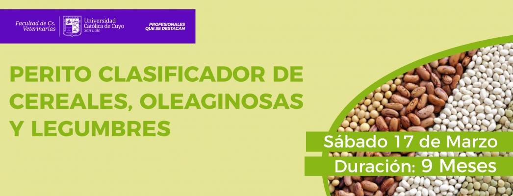 Perito Clasificador de Cereales Oleaginosas y Legumbres