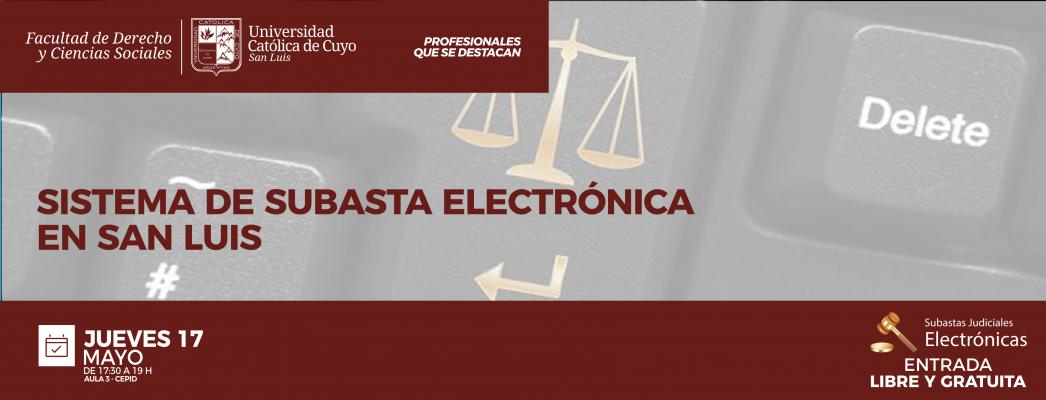 SISTEMA DE SUBASTA ELECTRÓNICA EN SAN LUIS