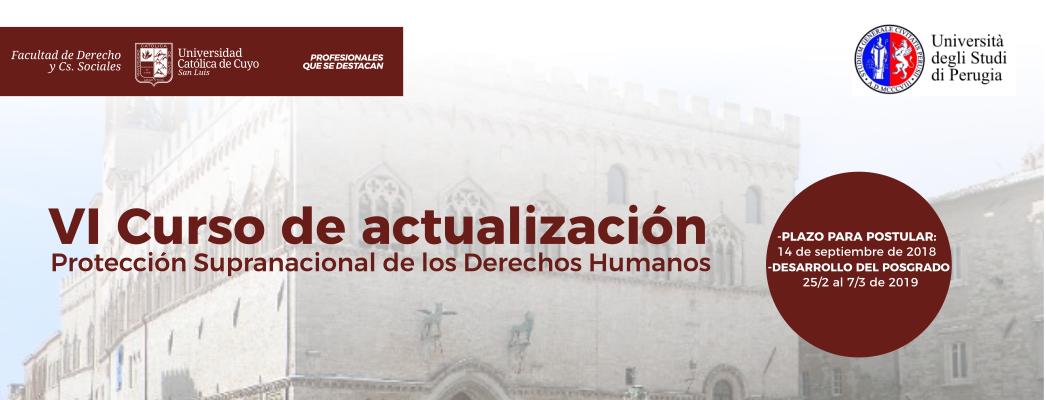 Protección Supranacional de los Derechos Humanos-Perugia