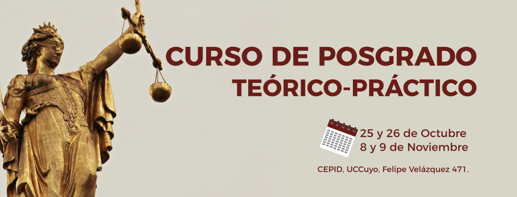CURSO DE POSGRADO TEÓRICO-PRÁCTICO