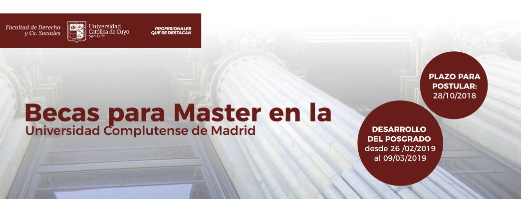 Becas para Master en la Universidad Complutense de Madrid